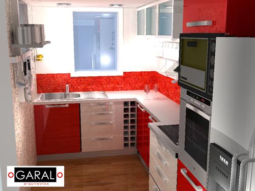 Cocina marce garal architecture for Casa minimalista roja