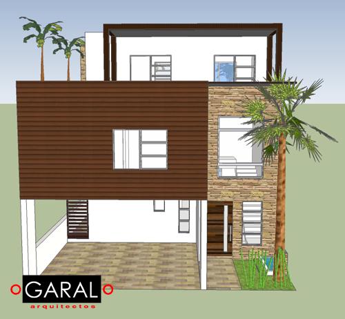 Casa lg marce garal architecture for Fachadas de casas modernas de interes social